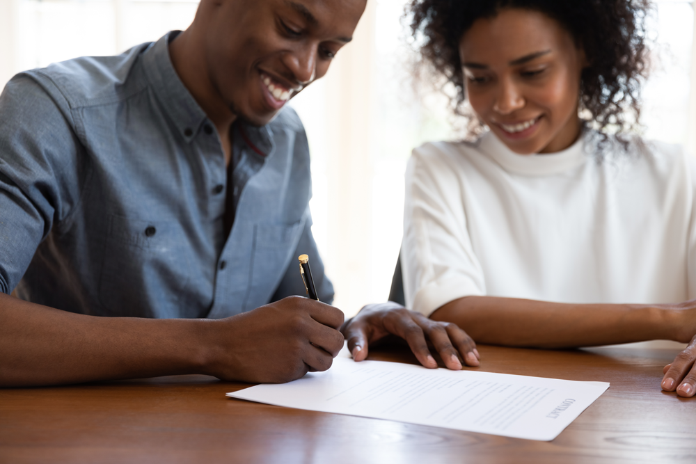 What happens after you sign a home purchase contract?